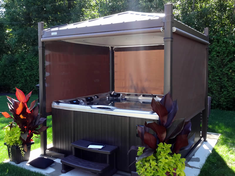 Covana Oasis Automated Hot Tub Gazebo Master Spas Of Wisconsin